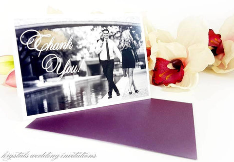 Thank You Cards - Wedding Thank You Cards With Personalized Picture
