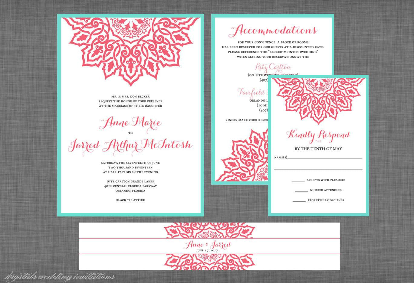 The Anne Marie Suite Vintage Lace Inspired Wedding Invitation Krystals Invitations: Lace Inspired Wedding Invitations At Websimilar.org