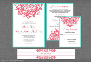 The Anne Marie Suite - Vintage Lace Inspired Wedding Invitation Suite - Krystals Wedding Invitations