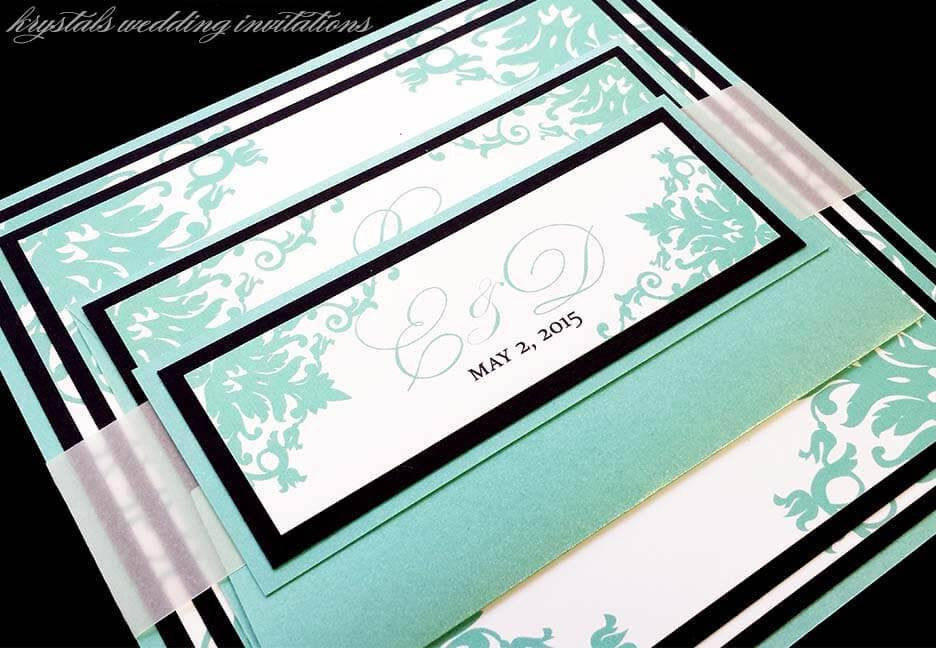 Wedding Invitations - The Detoto Suite - Vintage Floral Layered Wedding Invitations