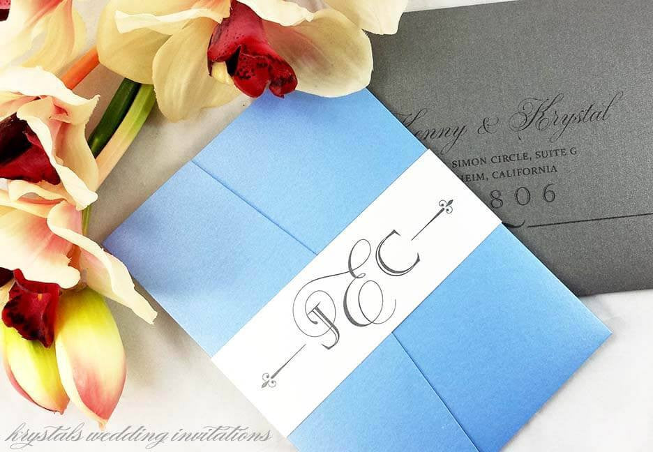 Wedding Invitations - The Eimer Suite - Classic Pocketfold Wedding Invitations