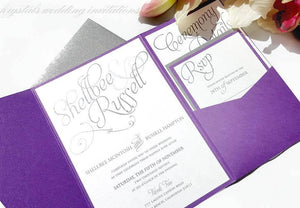 Wedding Invitations - The McIntosh Suite - Elegant Yet Casual Pocketfold Wedding Invitations