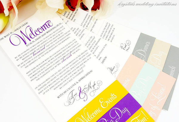 Welcome Cards - Welcome / Itinerary Swing Tab Cards