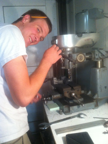 Dan donating some machining time on the grommets. We pay him in chocolate.