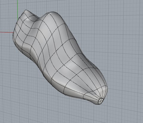 3. Smooth surface model in Rhino.