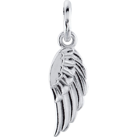 Posh Mommy Wing Charm in 14k White Gold