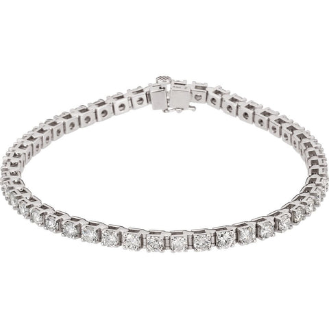 4 1/2 CTTW Diamond Tennis Bracelet in 14k White Gold ( 7 1/4 inch )