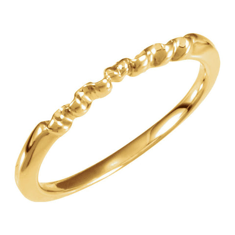 14k Yellow Gold Band, Size 6