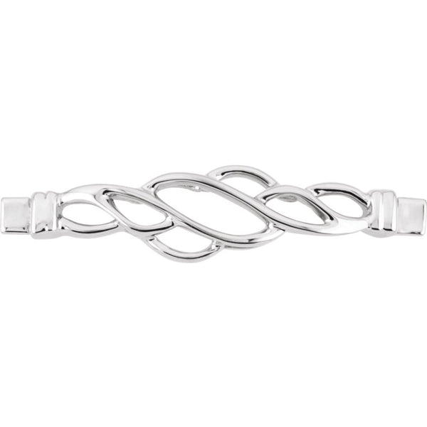 14k White Gold Bracelet Center