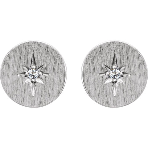 Sterling Silver .02 CTW Diamond Earrings