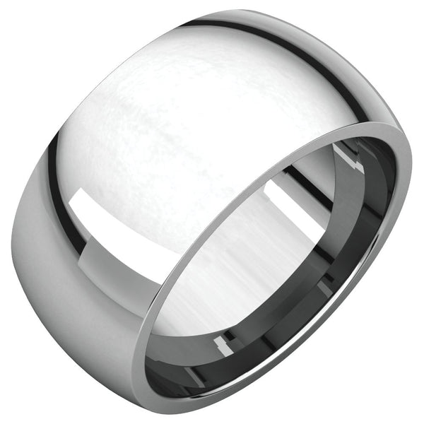 Sterling Silver 10mm Comfort Fit Band, Size 10