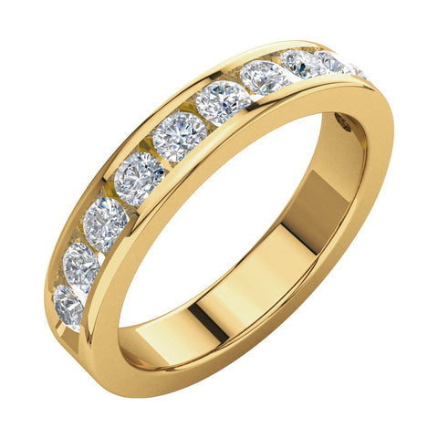 3/4 CTTW Diamond Anniversary Band in 14k Yellow Gold (Size 5 )