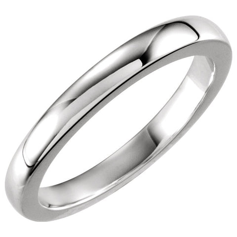 14k White Gold Solstice Solitaire® Tapered Bombé Band, Size 6