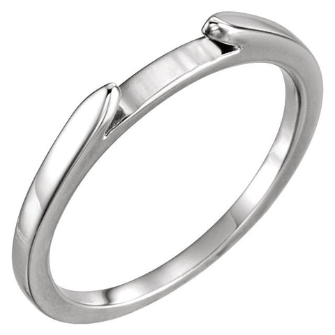 Wedding Band For Matching Engagement Ring in 14K White Gold (Size 6)