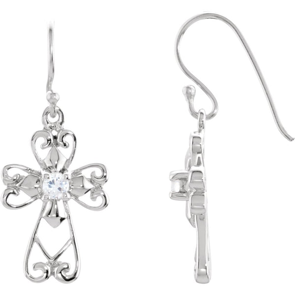 Sterling Silver Jesus, The Morning Star Earrings