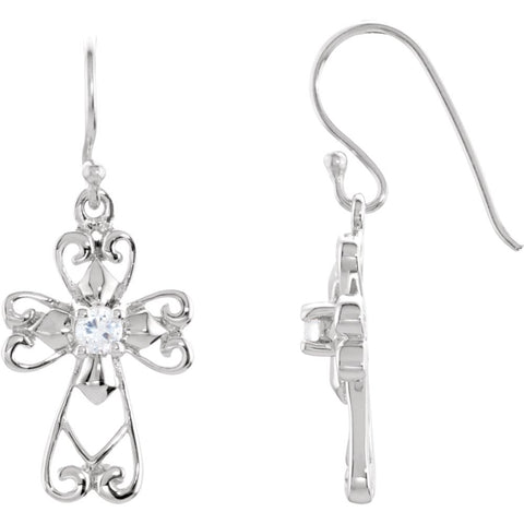 Pair of Jesus The Morning Star Earrings with Packaging in Sterling Silver