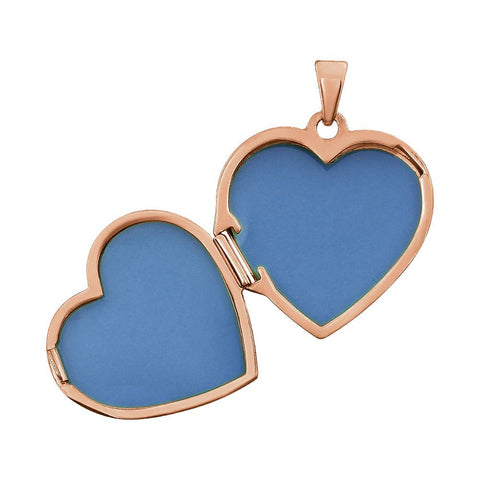 14K Rose Gold-Plated Sterling Silver Double Heart Locket