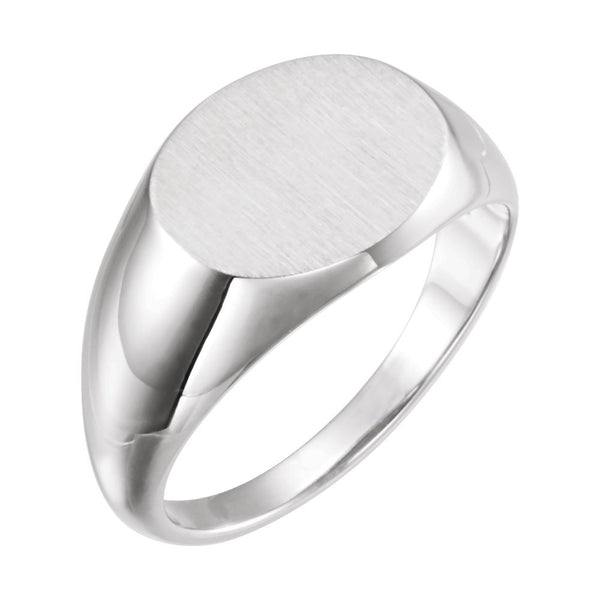 Sterling Silver Signet Ring, Size 11