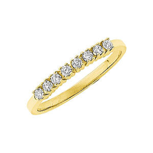14k Yellow Gold 1/6 CTW Diamond Anniversary Band, Size 6