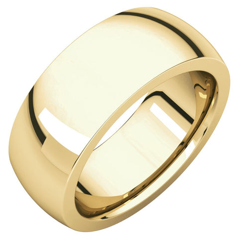 18k Yellow Gold 8mm Heavy Comfort Fit Band, Size 7