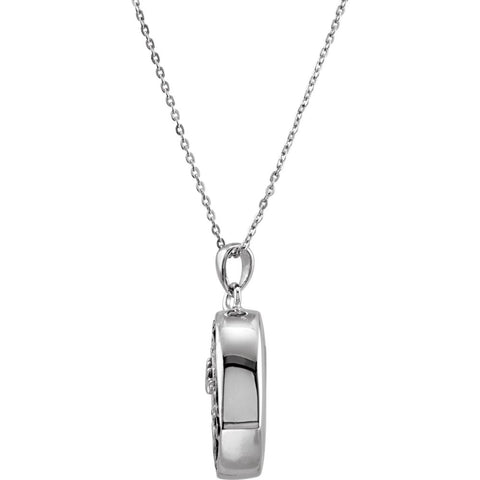 Sterling Silver Handprints Ash Holder Necklace