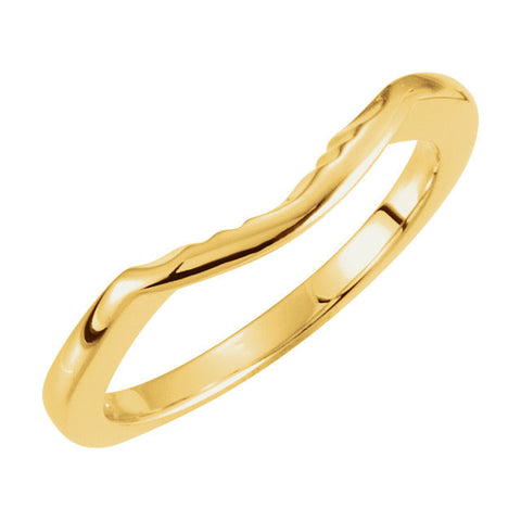 Wedding Band for Matching Engagement Ring with 06.50 mm Center Stone in 10k Yellow Gold ( Size 6 )