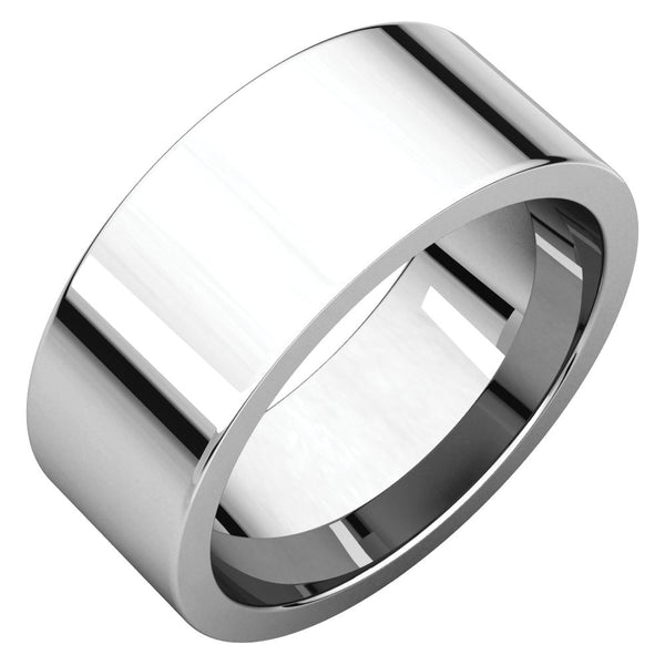 Sterling Silver 8mm Flat Band, Size 7