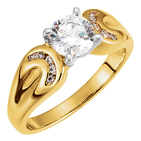 Wedding Band for Matching Engagement Ring in 14k Yellow Gold ( Size 6 )