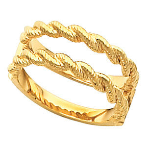 Ring Guard for Bridal Engagement Ring in 14K Yellow Gold ( Size 6 )