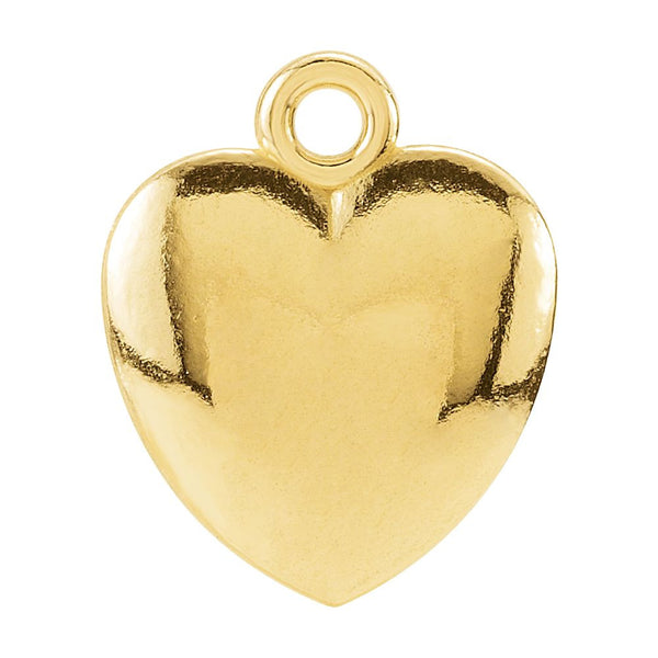 14k Yellow Gold 10.85x8.9mm Puffed Heart Charm