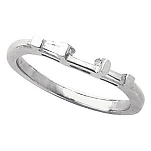 Platinum Engagement Diamond Band, Size 6