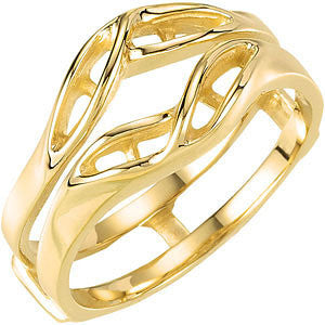 14k Yellow Gold Accented Ring Guard Mounting, Size 6