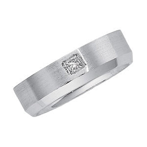 14k White Gold 1/6 CTW Diamond Band Size 11