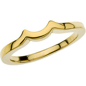 14k Yellow Gold Band, Size 7.25
