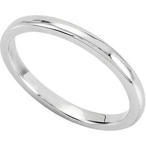 14k White Gold Bridal Band, Size 7