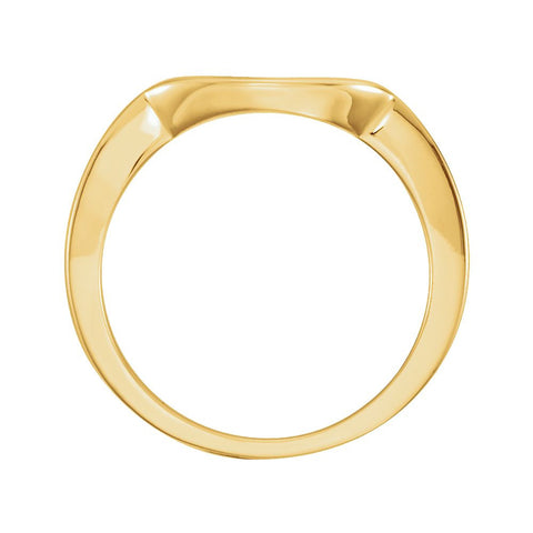 14k Yellow Gold Band for 7.4mm Engagement Ring, Size 6