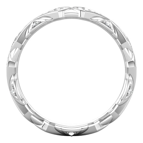 Platinum 1/3 CTW Diamond Sculptural-Inspired Eternity Band Size 7