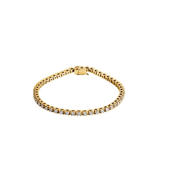 "14k Yellow Gold 3 1/2 CTW Diamond Line 7.25"" Bracelet"
