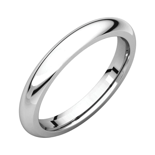 Sterling Silver 3mm Comfort Fit Band, Size 10