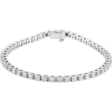 3 1/2 CTTW Diamond Tennis Bracelet in 14k White Gold