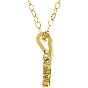 "14k Yellow Gold Youth Cubic Zirconia 15"" Necklace"