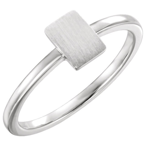 Sterling Silver Signet Ring, Size 7