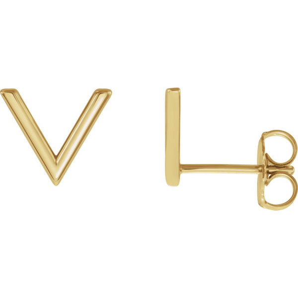 "14k Yellow Gold ""V"" Earrings"