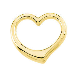 12.25x12.50 mm Heart Chain Slide in 14K Yellow Gold