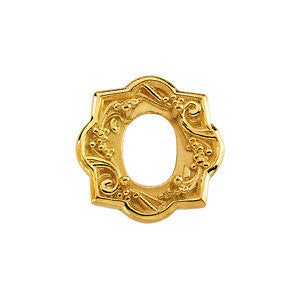14k Yellow Gold Oval Shaped Trim
