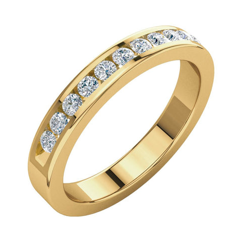 1/3 CTTW Round Diamond Anniversary Band in 14k Yellow Gold (Size 6 )