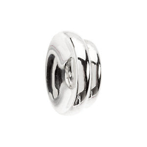 14k White Gold 9 Tapered Roundel Spacer