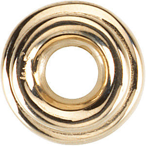 14k Yellow Gold 9 Tapered Roundel Spacer