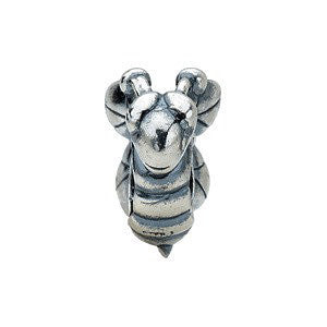 Sterling Silver 11.25x10.25mm Bee Bead