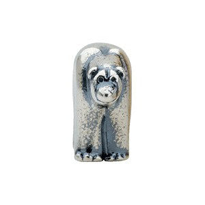 Sterling Silver 9.5x15mm Bear Slider Bead